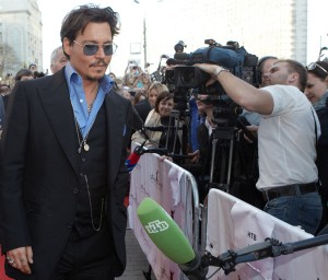Johnny Depp in Moscow